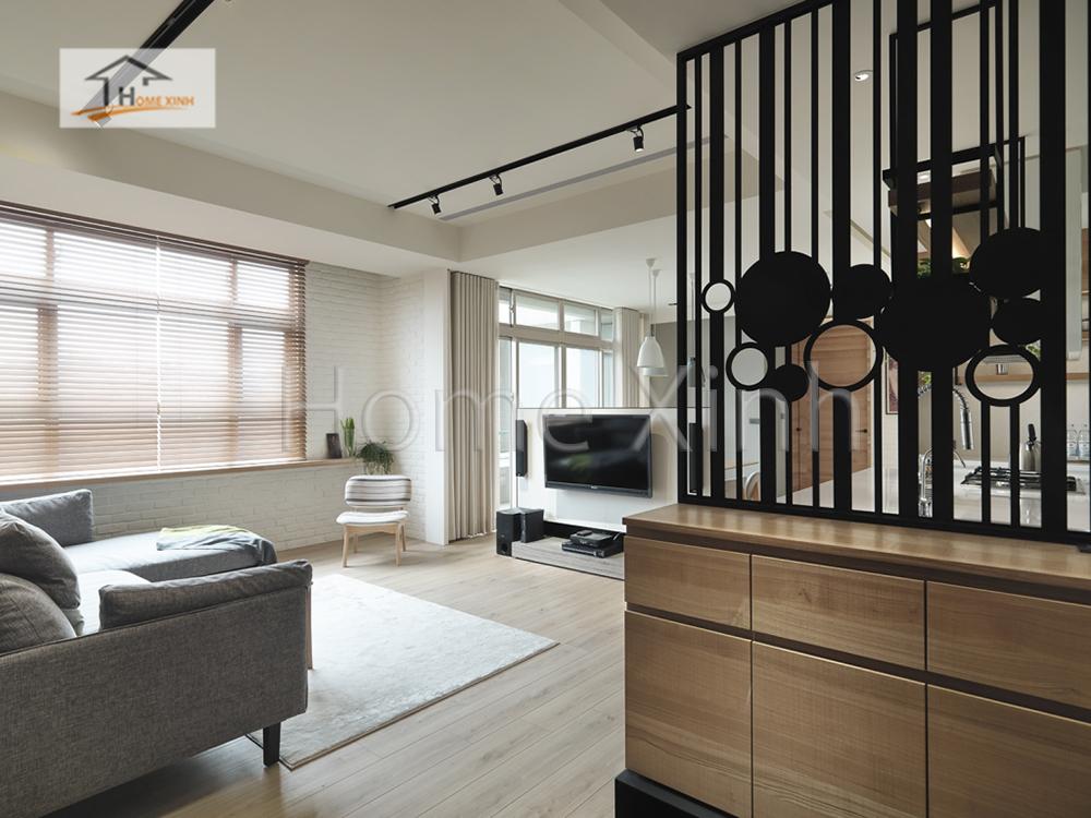 Hình 01: Thiết kế nội thất phòng khách 28m2