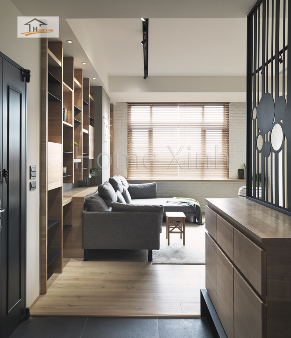 Hình 03: Thiết kế nội thất phòng khách 28m2