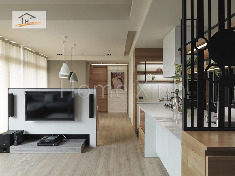Hình 04: Thiết kế nội thất phòng khách 28m2