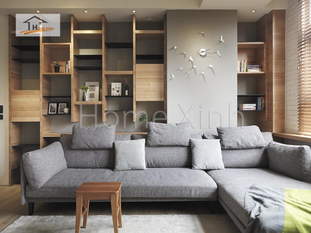 Hình 06: Thiết kế nội thất phòng khách 28m2