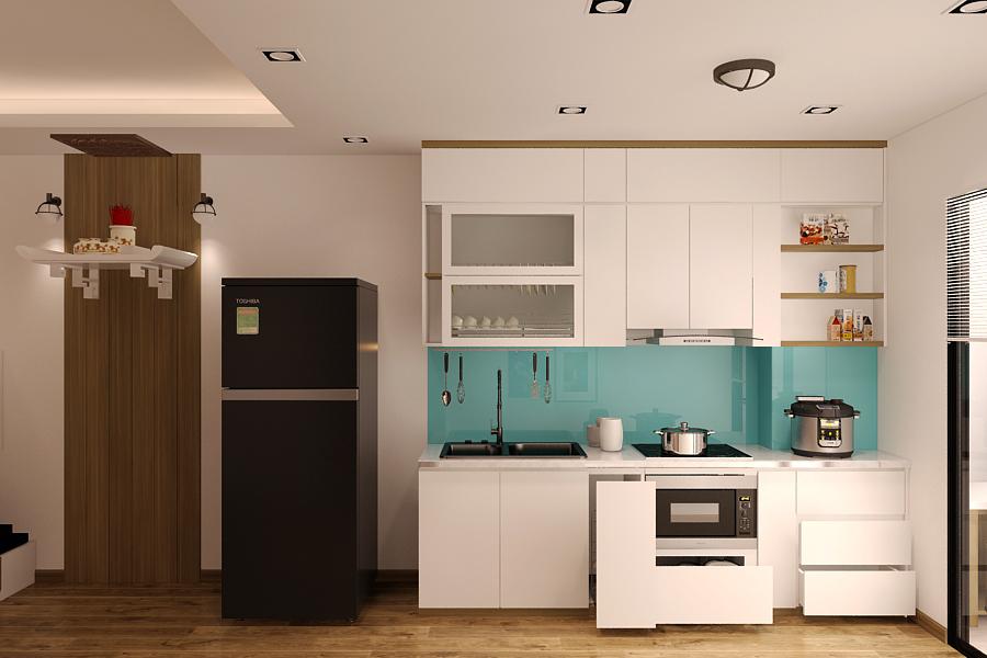Nội thất phòng bếp toát lên vẻ đẹp sang trọng và ấn tượng