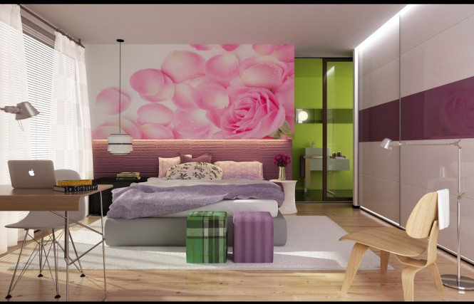 Phòng ngủ nữ tính và hiện đại