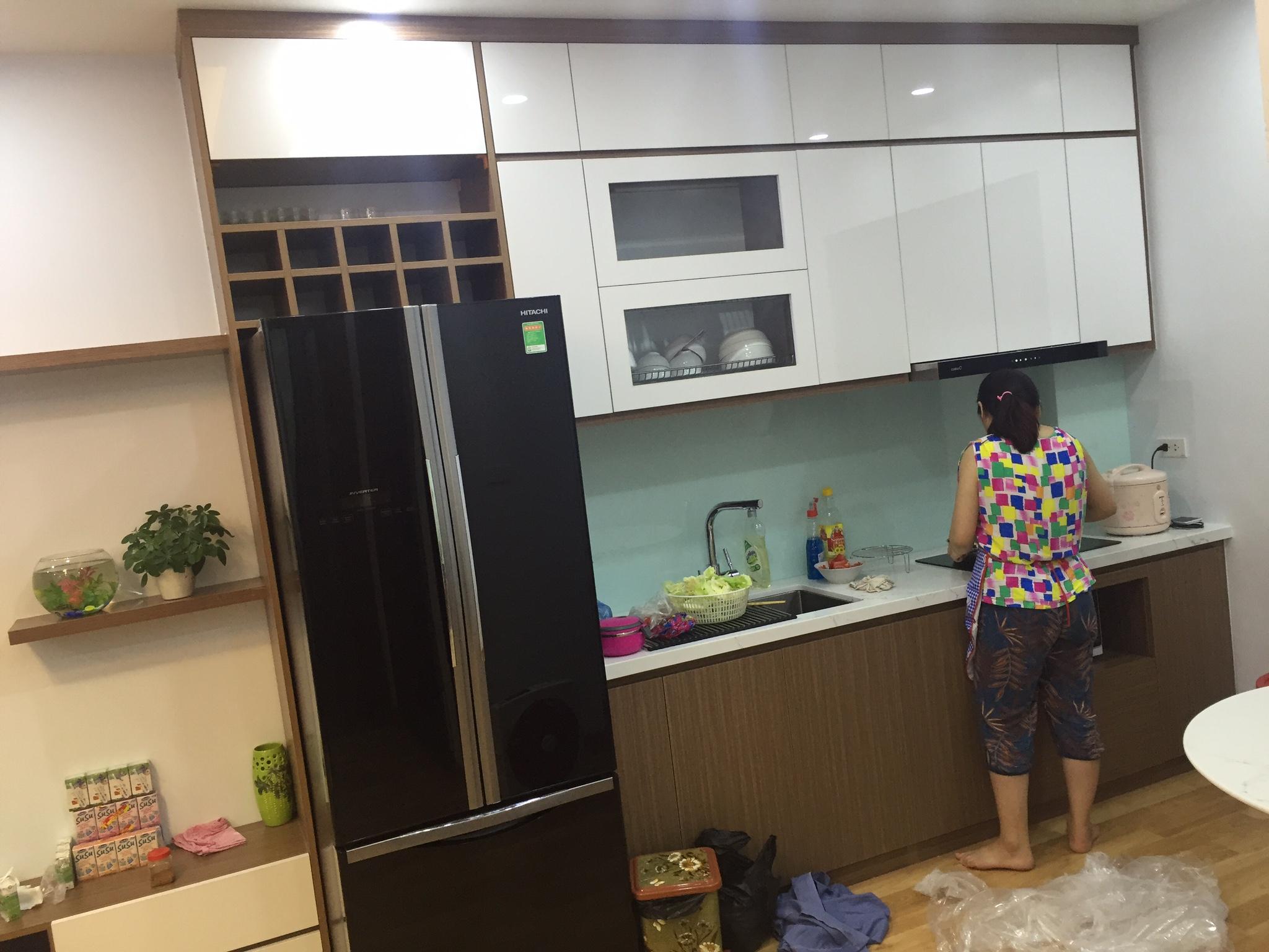 Thi công tủ bếp 02