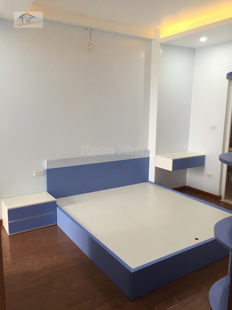 Thi công nội thất phòng ngủ với màu sắc trẻ trung và hiện đại