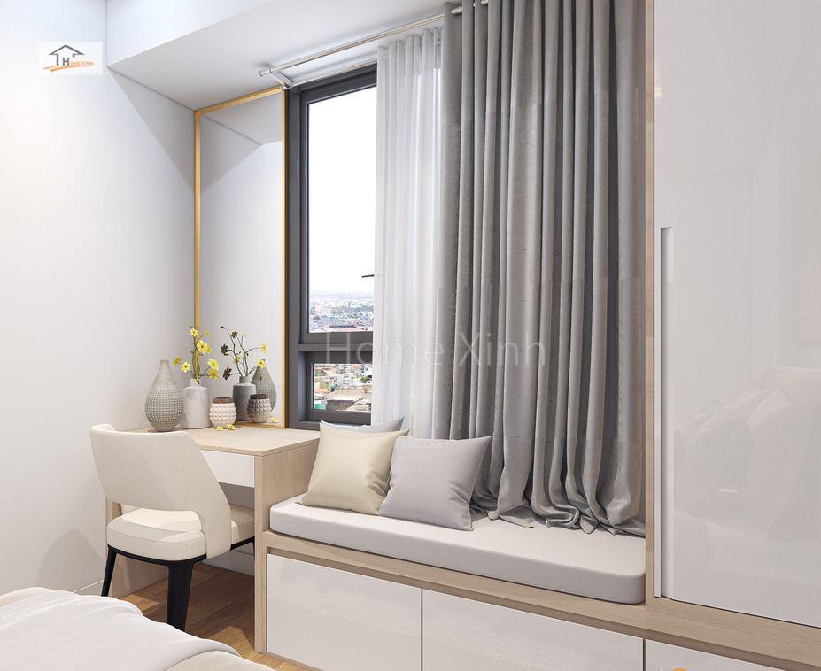 Thiết kế phòng ngủ chung cư Green stars 01
