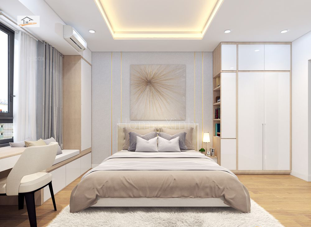 Thiết kế phòng ngủ chung cư Green stars 02