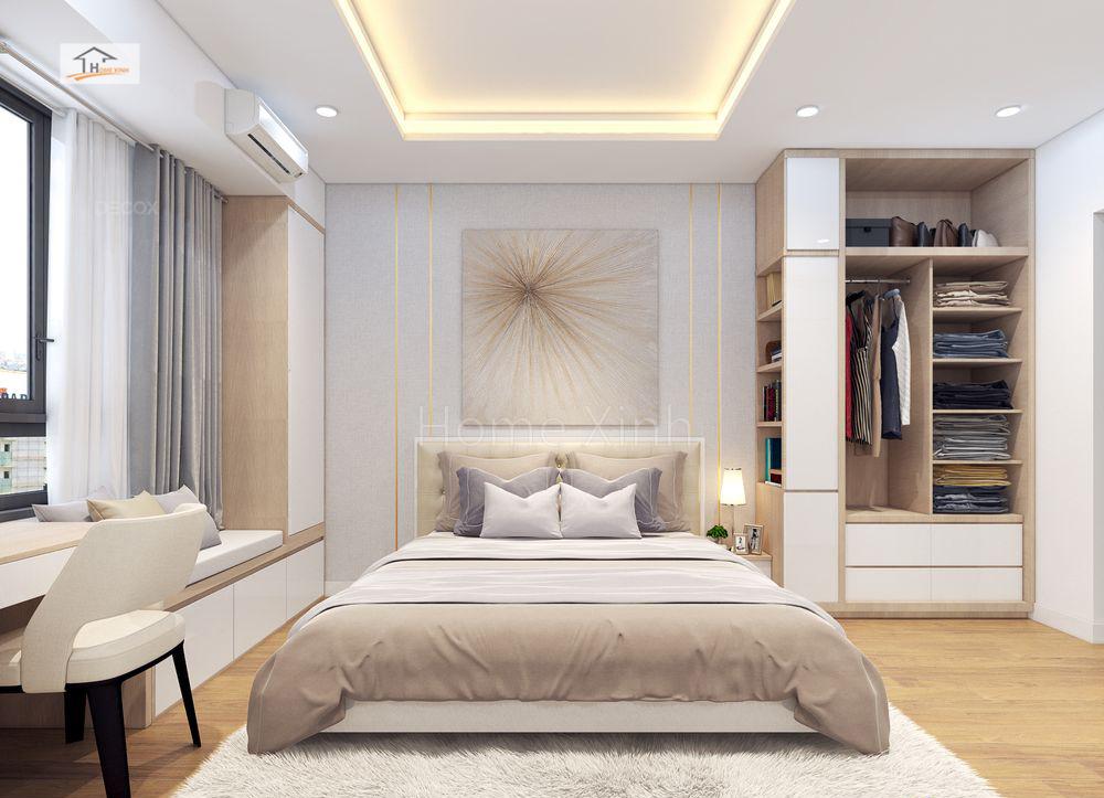 Thiết kế phòng ngủ chung cư Green stars 03