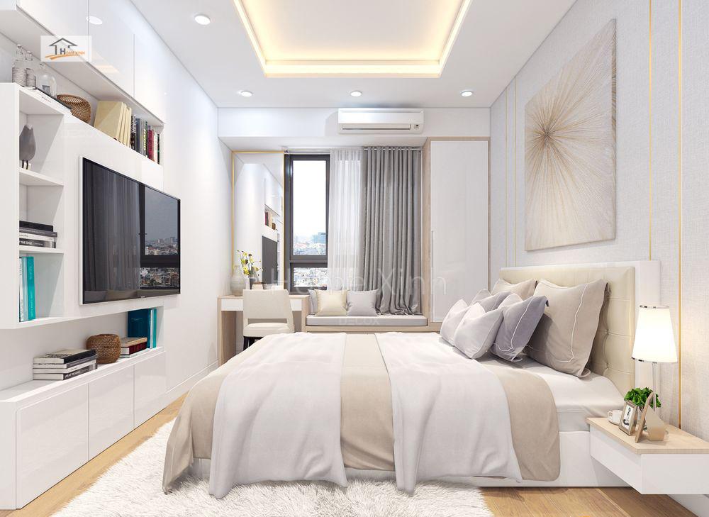 Thiết kế phòng ngủ chung cư Green stars 05