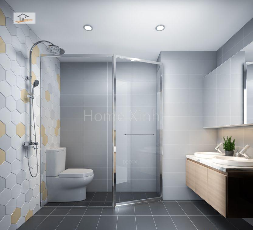 Thiết kế phòng vệ sinh chung cư Green stars 01