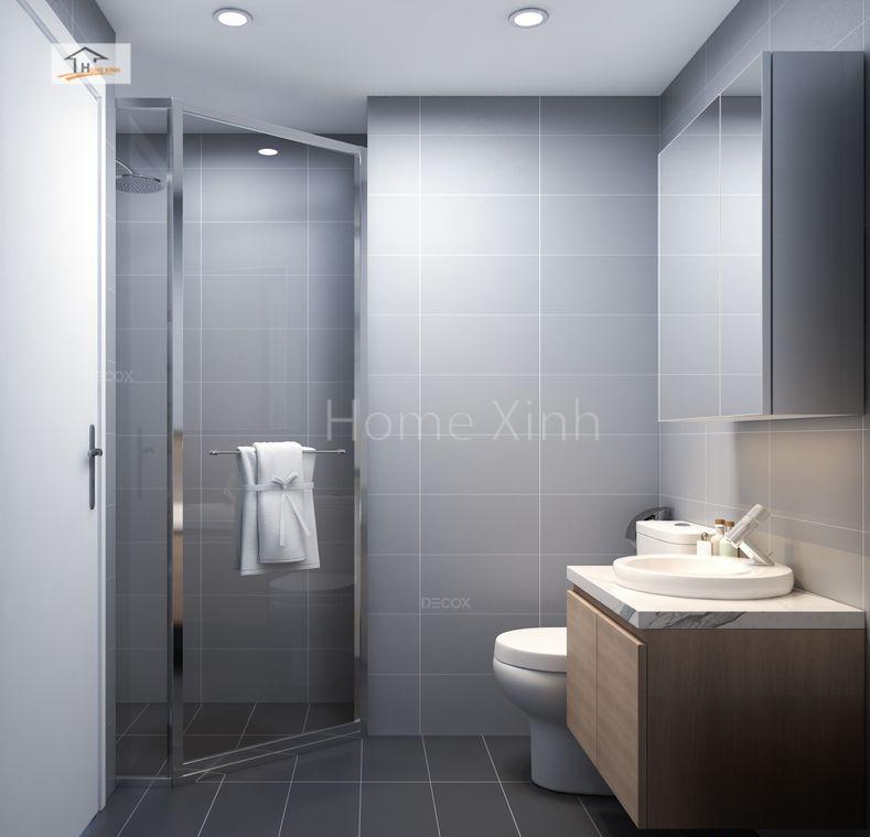 Thiết kế phòng vệ sinh chung cư Green stars 02