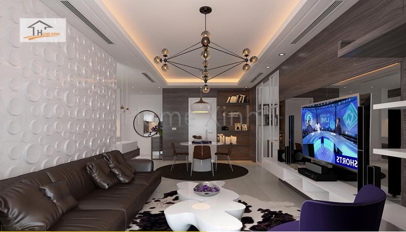 thiet ke noi that phong khach cao cap 02 - Mẫu phòng khách đẹp, hiện đại cho chung cư cao cấp