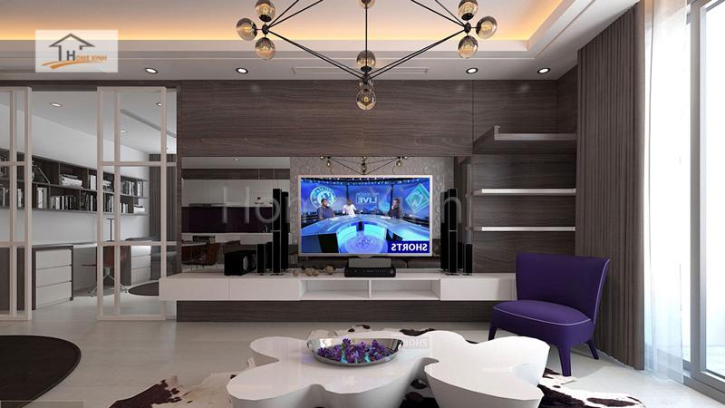thiet ke noi that phong khach cao cap 03 - Mẫu phòng khách đẹp, hiện đại cho chung cư cao cấp