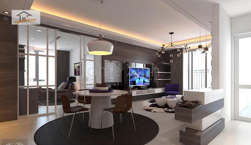 thiet ke noi that phong khach cao cap 07 - Mẫu phòng khách đẹp, hiện đại cho chung cư cao cấp
