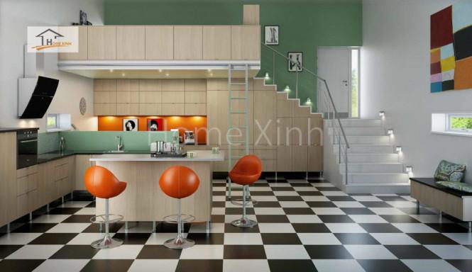 Thiết kế tủ bếp theo phong cách Bắc Âu 11