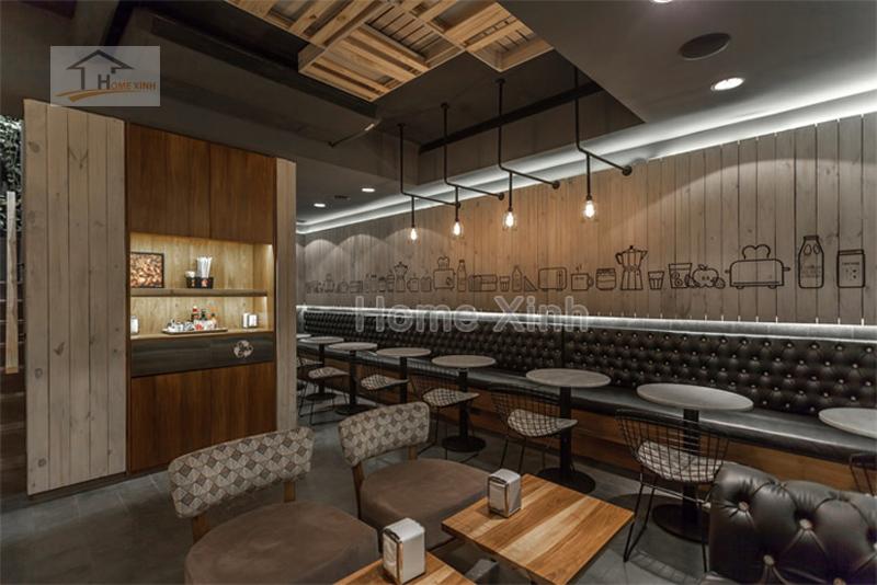 giá thiết kế nội thất quán cafe
