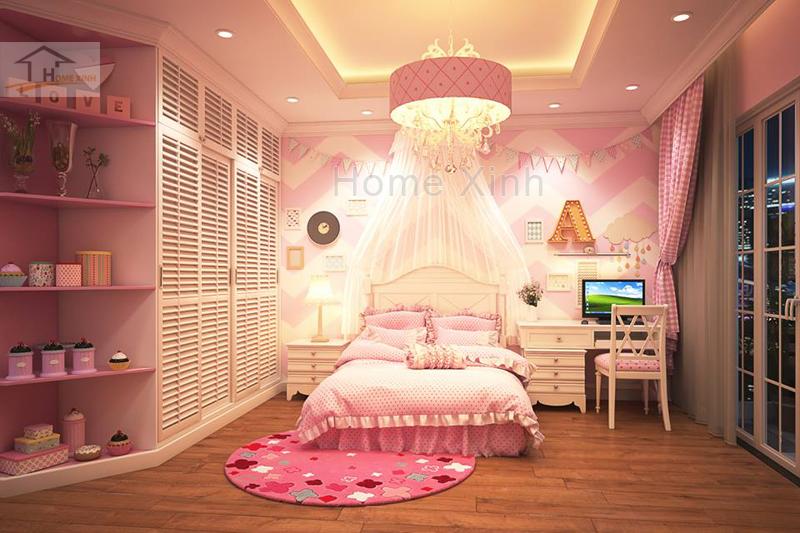 Nội thất phòng ngủ trẻ em cho bé gái đáng yêu 01