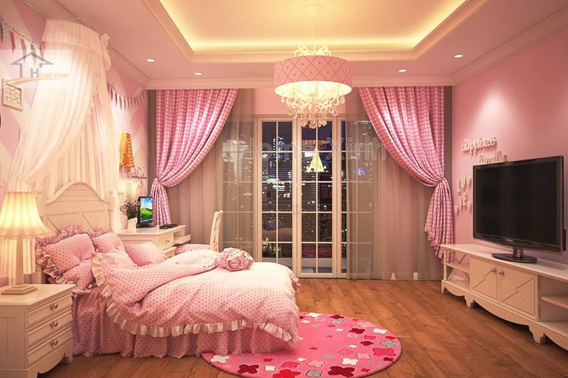 Nội thất phòng ngủ trẻ em cho bé gái đáng yêu 02