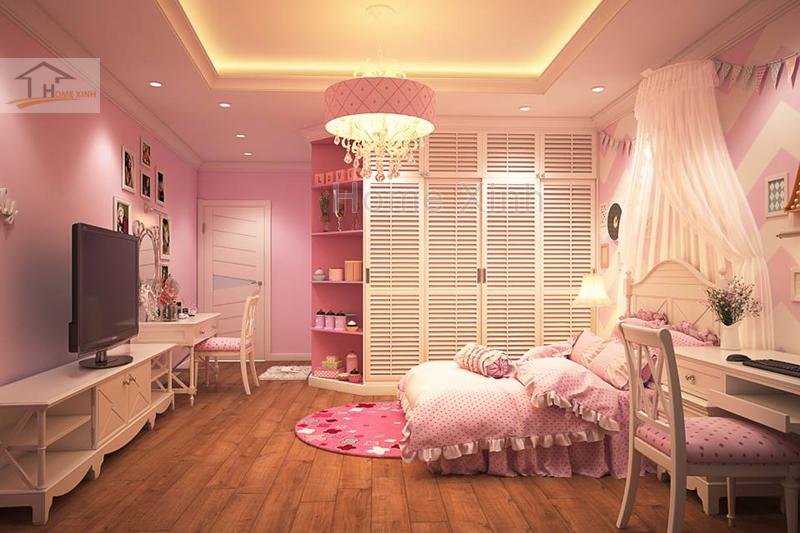 Nội thất phòng ngủ trẻ em cho bé gái đáng yêu 03