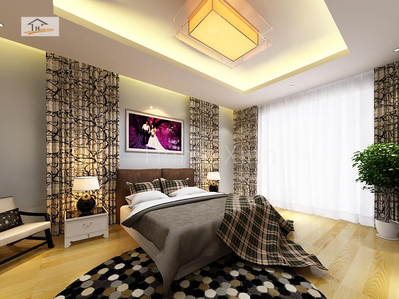 Thiết kế nội thất phòng ngủ master biệt thự 02