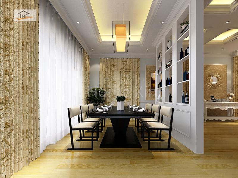 Thiết kế nội thất phòng ăn biệt thự - anh Ngọc