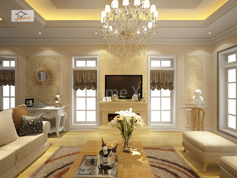 Thiết kế nội thất biệt thự mang phong cách Châu Âu
