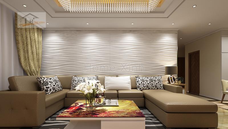 Thiết kế nội thất phòng khách & phòng bếp 03