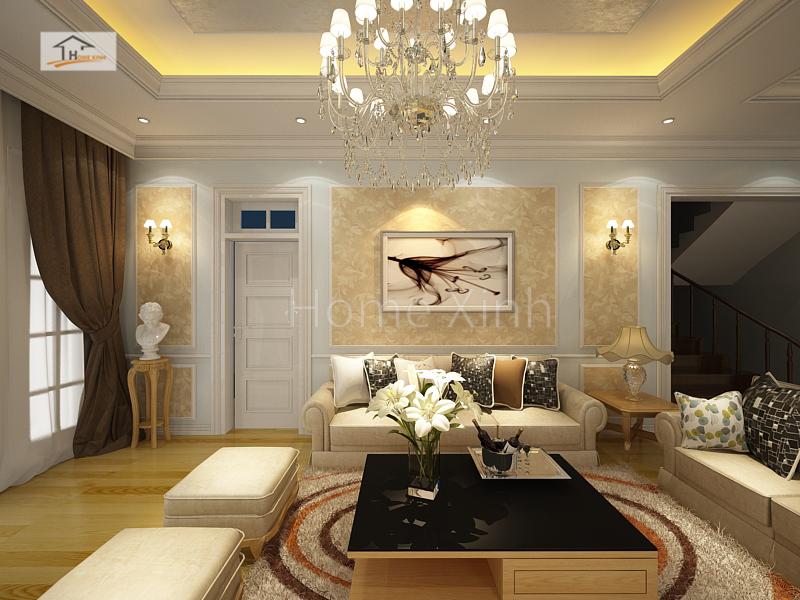 Thiết kế nội thất phòng khách biệt thự - anh Ngọc 03