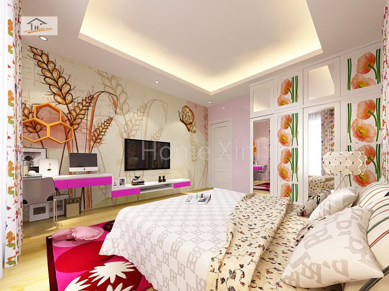 Thiết kế nội thất phòng ngủ con gái 01
