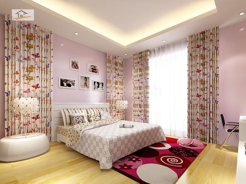 Thiết kế nội thất phòng ngủ con gái 02