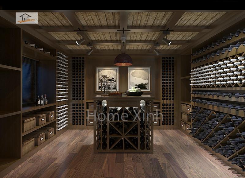 Tủ rượu thiết kế đơn giản, tinh tế