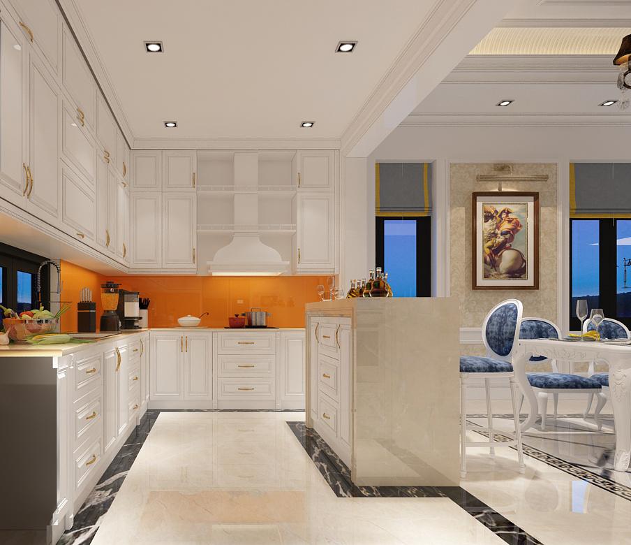 Thiết kế nội thất phòng bếp biệt thự Quảng Ninh 03