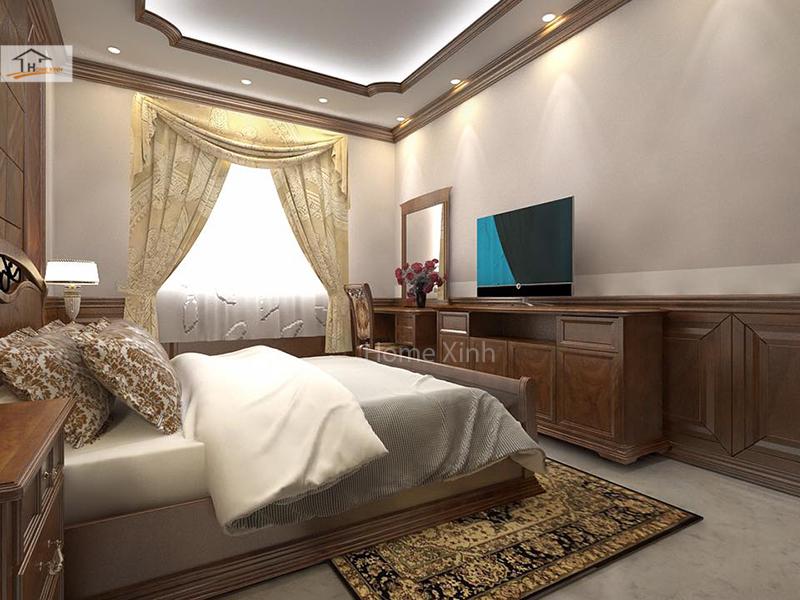 Hình 04: Thiết kế nội thất phòng ngủ master