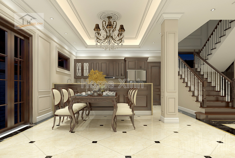 phong khach 03 - Thiết kế nội thất phòng khách tân cổ điển – anh Mã
