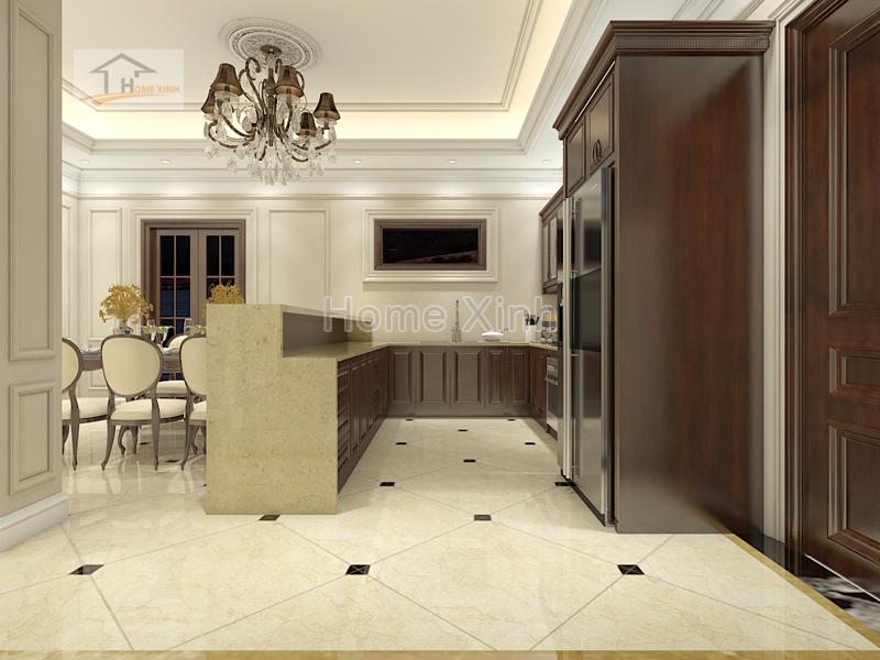 Thiết kế nội thất phòng khách tân cổ điển 03