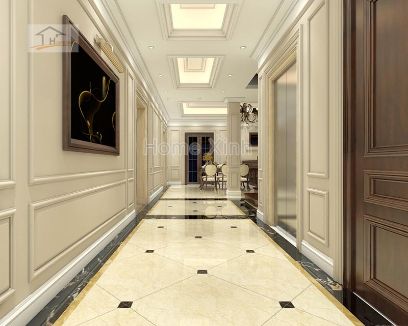 phong khach 05 - Thiết kế nội thất phòng khách tân cổ điển – anh Mã