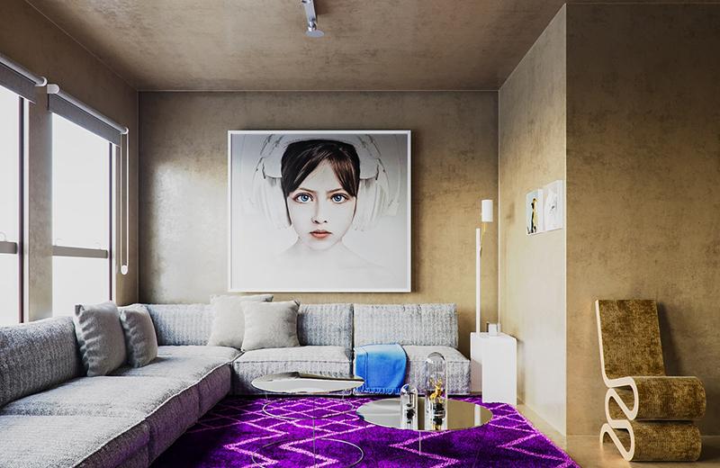 6. Phòng khách với phong cách nhẹ nhàng