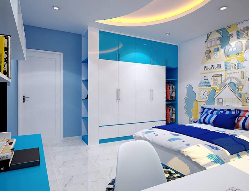 Hình ảnh 03: Mẫu nội thất phòng ngủ trẻ em rất là đáng yêu cho các bé trai