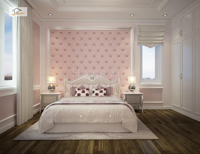 Màu hồng đáng yêu cho phòng ngủ con gái