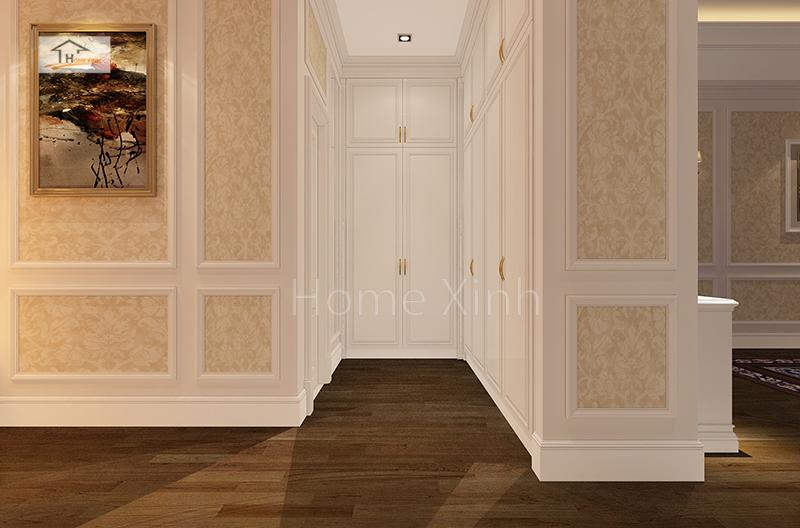 Thiết kế nội thất phòng ngủ master biệt thự Quảng Ninh 03