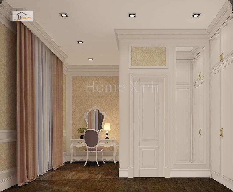 Những họa tiết trang trí ở hành lang mang đậm chất cổ điển