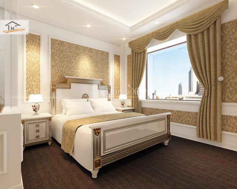 Hình ảnh 01: Thiết kế phòng ngủ phong cách tân cổ điển