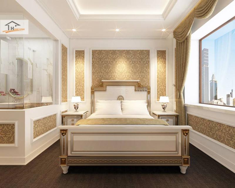 Hình ảnh 02: Thiết kế phòng ngủ phong cách tân cổ điển