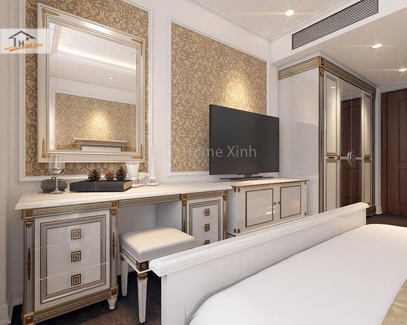Hình ảnh 03: Thiết kế phòng ngủ phong cách tân cổ điển