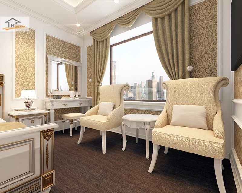 Hình ảnh 09: Thiết kế phòng ngủ phong cách tân cổ điển