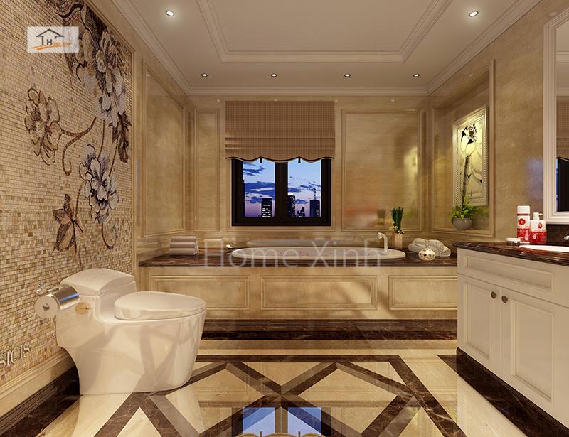 Phòng tắm kết hợp với phòng WC