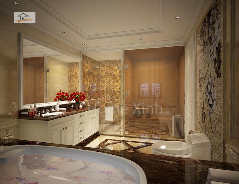 Không gian phòng tắm rộng rãi