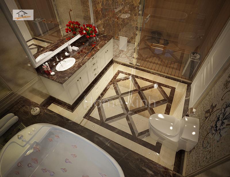 Thiết kế phòng tắm hiện đại, sang trọng