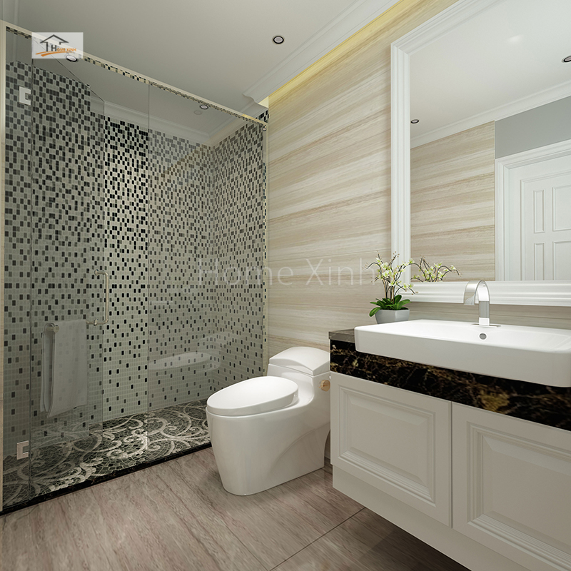 Phòng WC trong phòng ngủ con trai