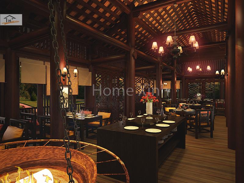 Nhà hàng được thiết kế theo phong cách chuẩn Châu Âu