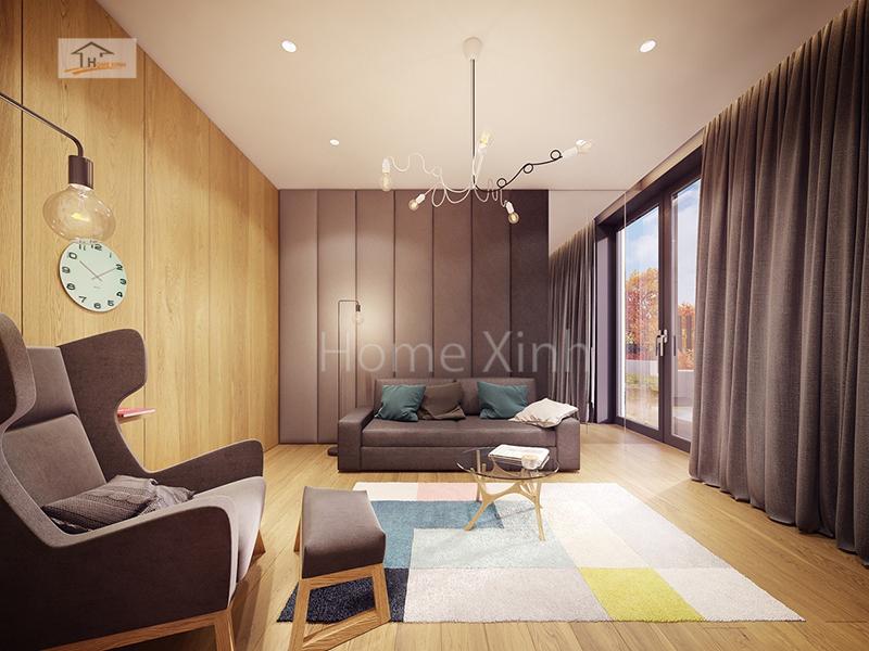 thiet ke noi that phong khach 01 - Trang trí nội thất phòng khách nhỏ xinh, gọn gàng 20m2